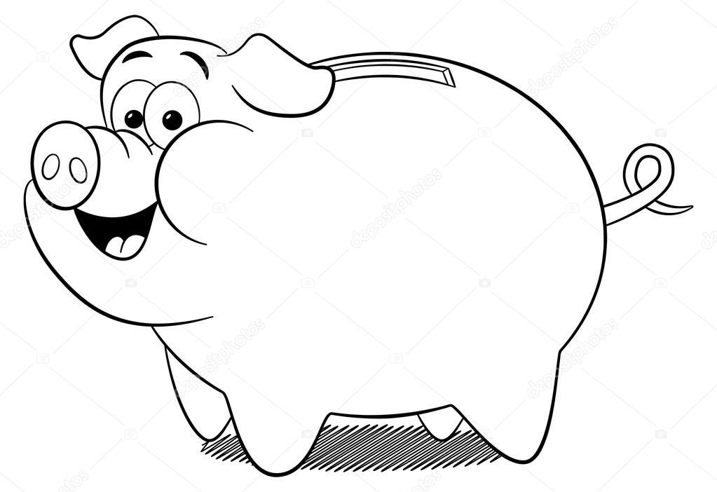 1023x702 Cartoon Piggy Bank Stock Vector Antimartina