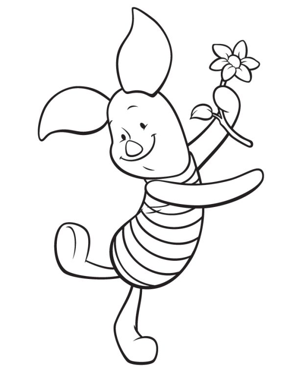 580x750 33 Best Winnie The Pooh Images On Colouring Pages