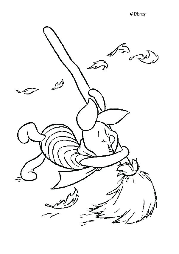 601x850 Piglet Coloring Page The Pooh Celebrating Of Day With Piglet