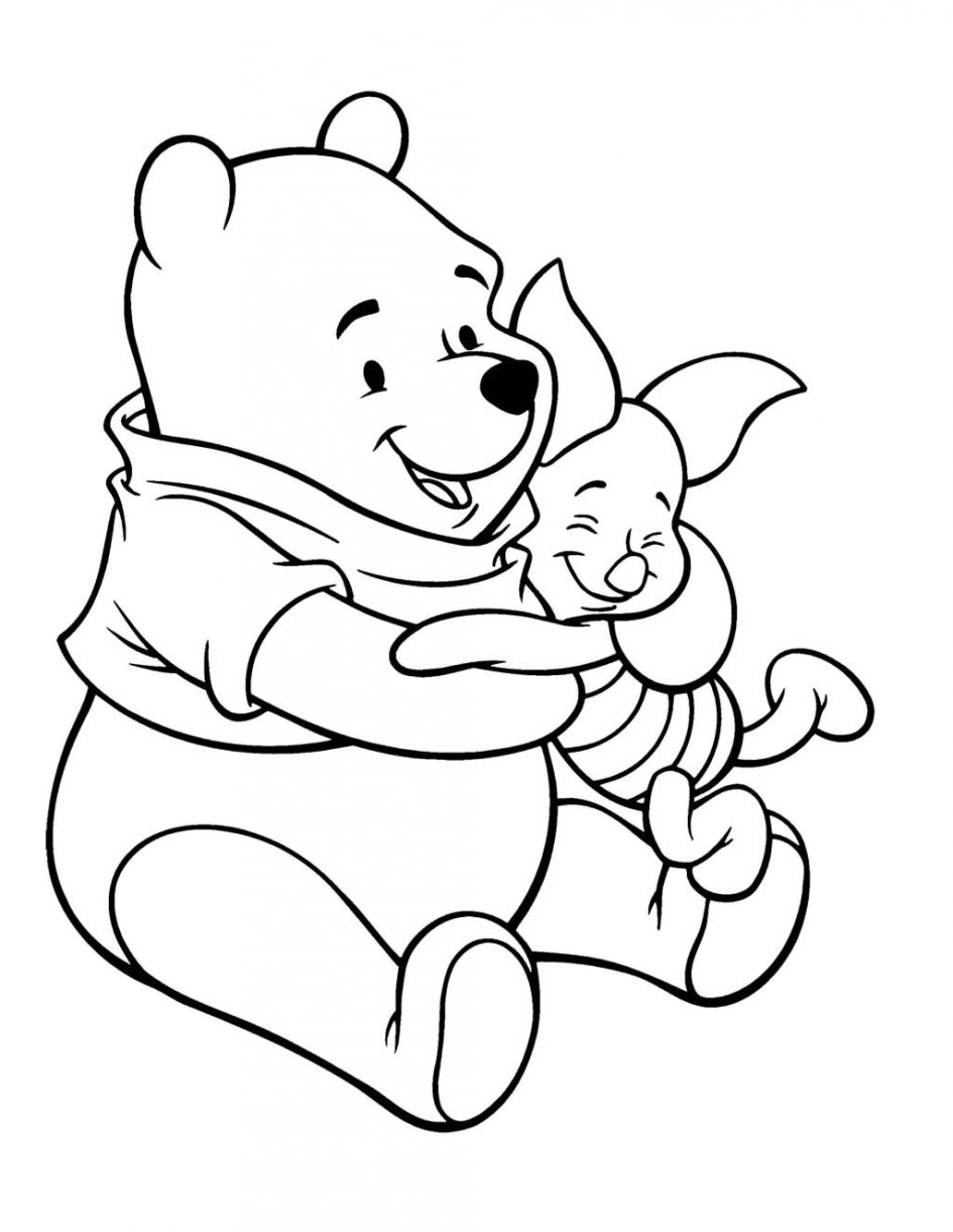 945x1221 Pooh And Piglet Drawing Coloring Download Winnie The Pooh