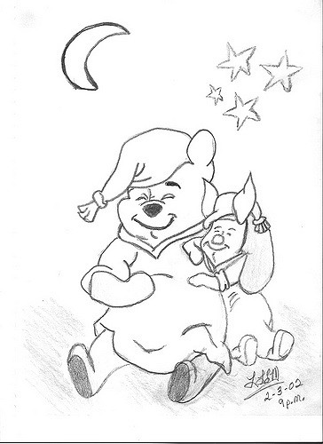 364x500 Winnie The Pooh And Piglet My Pencil Sketch Drawings That