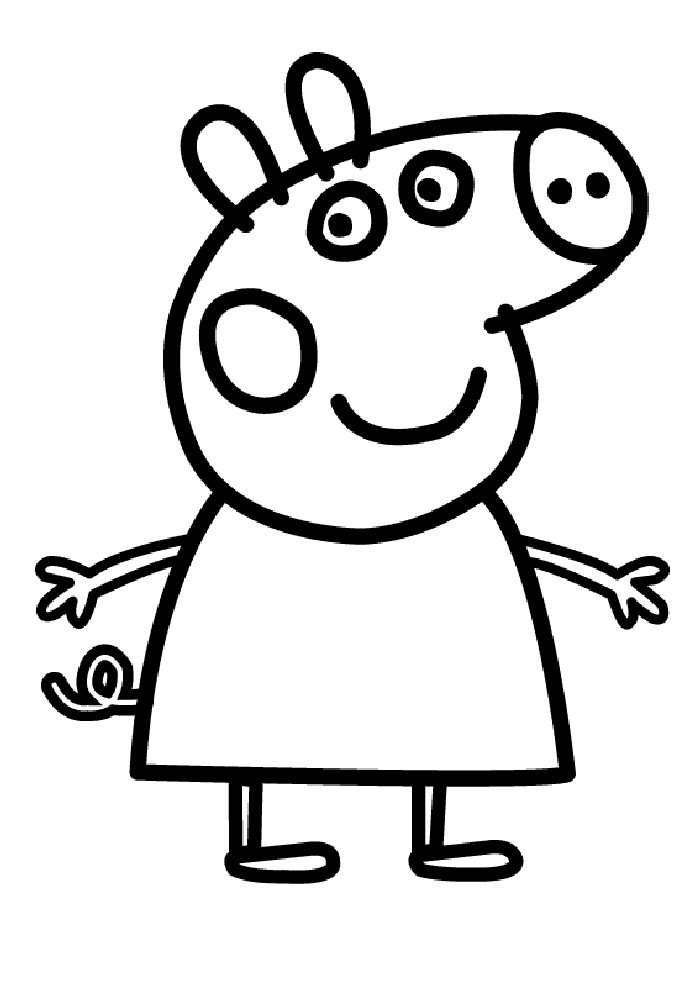700x990 Peppa Pig Drawing Templates Kids N Fun 20 Coloring Pages Of Peppa