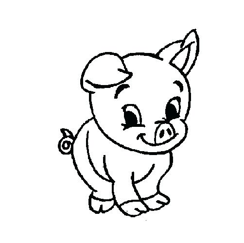 502x500 Pig Coloring Happy Pig Coloring Page Pig Coloring Pictures