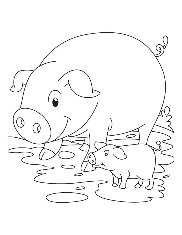 612x792 Awesome Coloring Pages Of Pigs Top Kids Colori