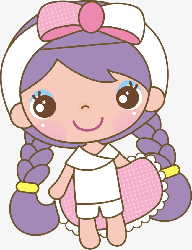 650x847 Pigtails Girl, Braid, Girl, Cartoon Png Image For Free Download