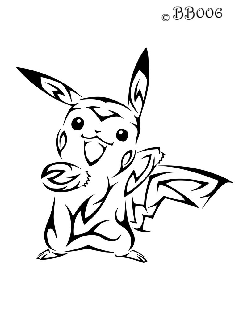 Pikachu Cat Drawing