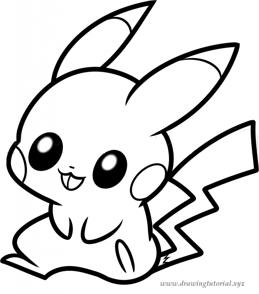 904x1024 How To Draw Easy Pokemon How To Draw A Pokemon Pikachu Drawing