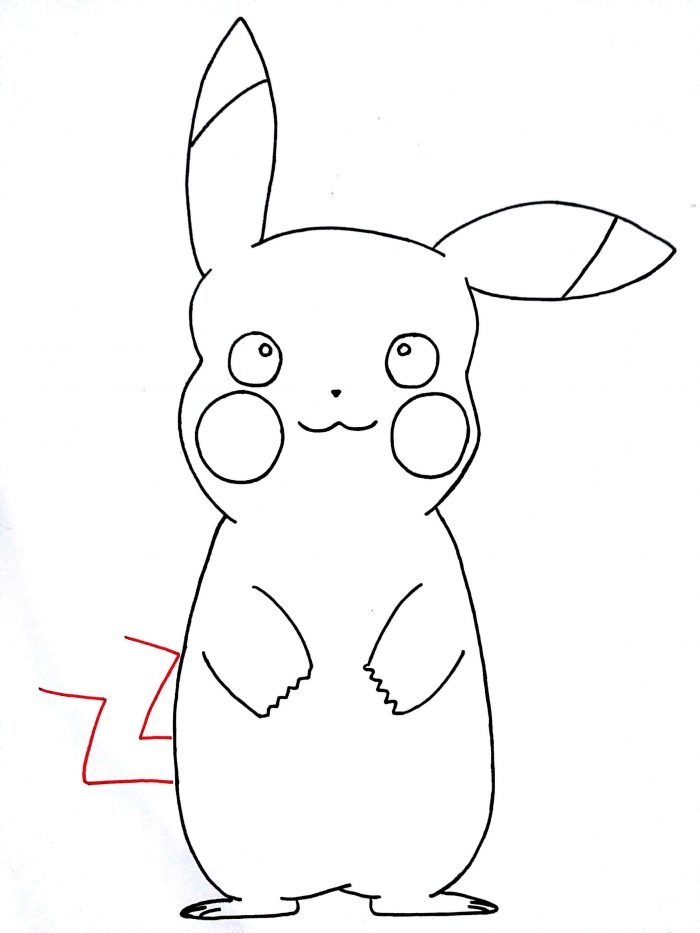700x933 How To Draw Pikachu From Pokemon Step By Step Kids Drawing Tutorials