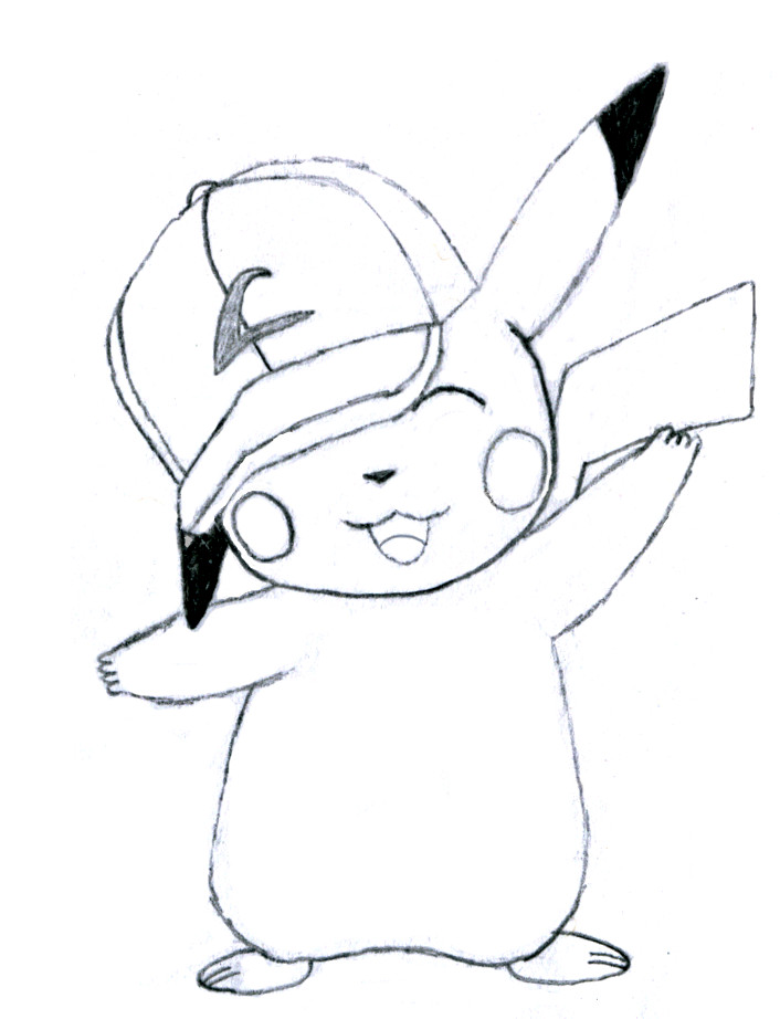 706x922 Ash's Pikachu Sketch By Floramouse2782
