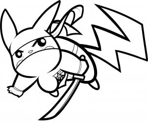 302x251 How To Draw Ninja Pikachu