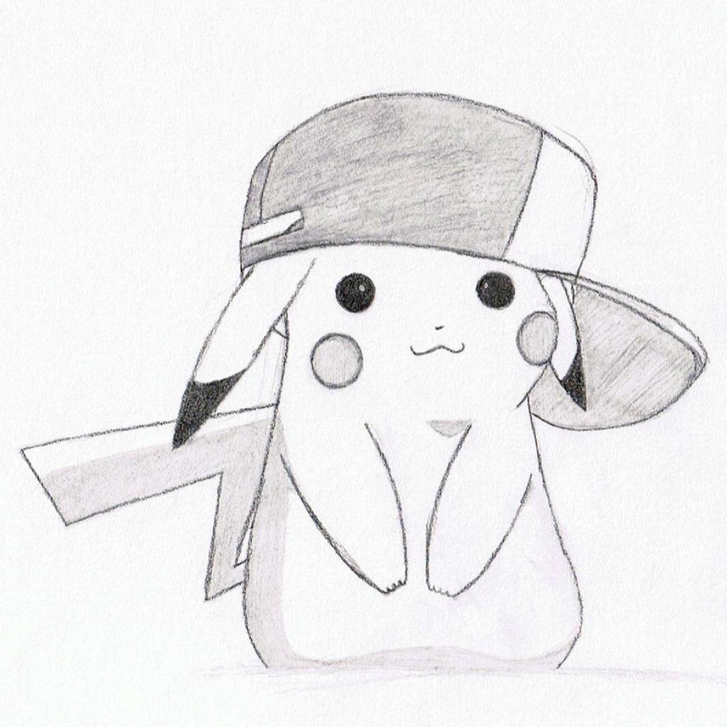 1024x1024 Pikachu Drawing