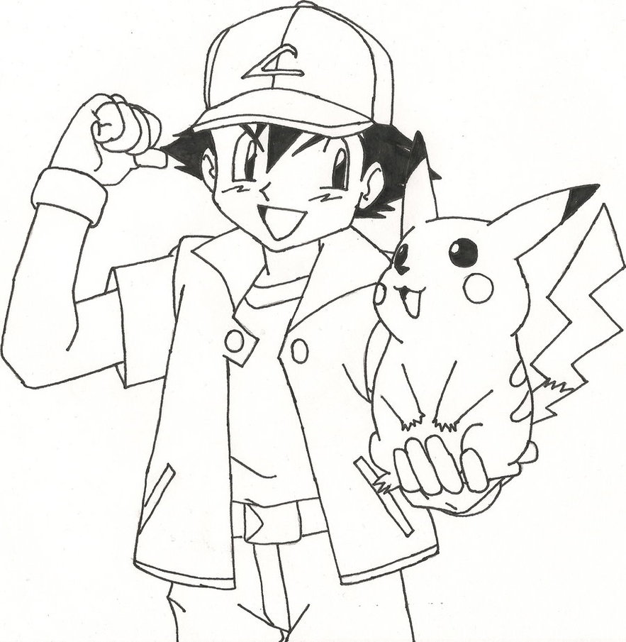 883x905 Ash And Pikachu By Sparten69r