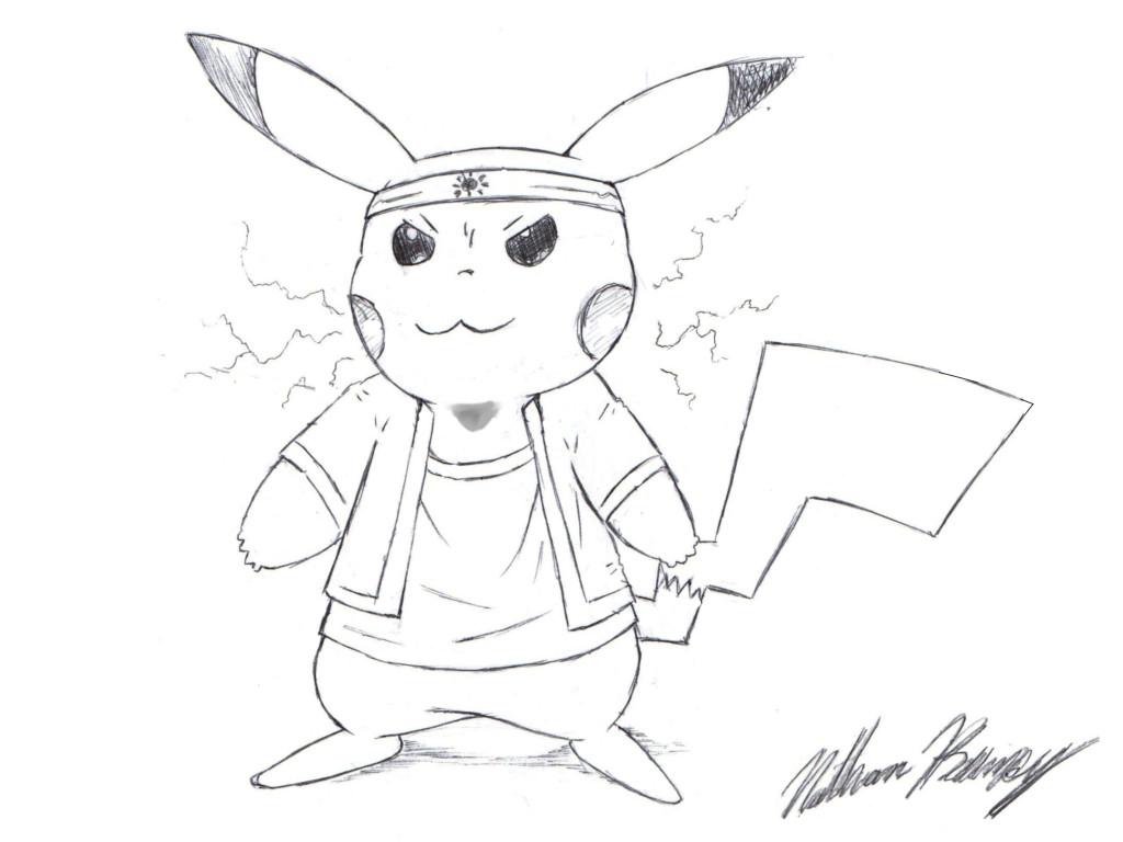 1024x768 Cool Pikachu Drawing By Natmaxex