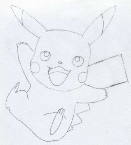 457x507 Draw Pikachu Quickly And Easily