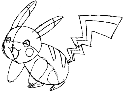 500x370 How To Draw Pikachu Smiling With Easy Step By Step Pokemon Drawing