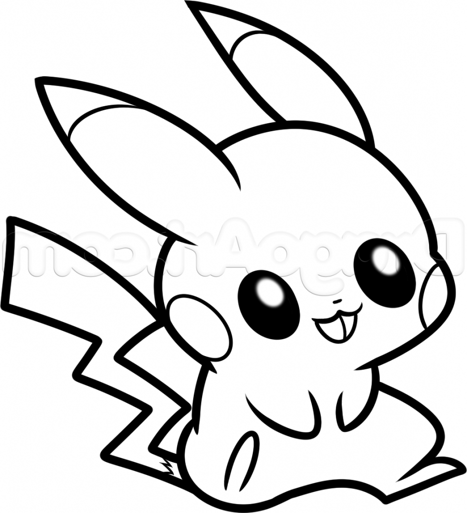 933x1024 Pikachu Easy Drawing Printable Coloring Pages For Kids