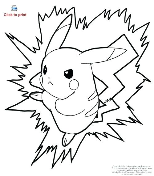 500x570 Ninja Pikachu Coloring Pages Best Images On Drawing And Colouring