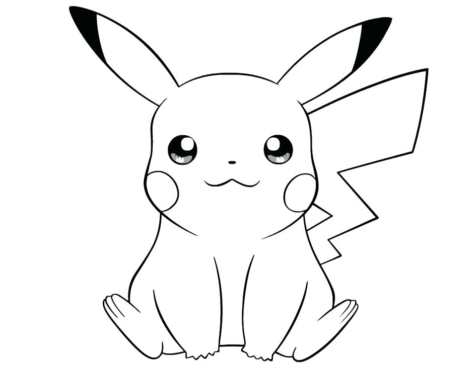 945x732 Pikachu Coloring Page Color Pages Sleeping Coloring Page Free