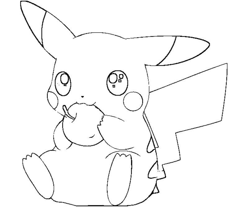 800x667 Baby Pikachu Coloring Pages