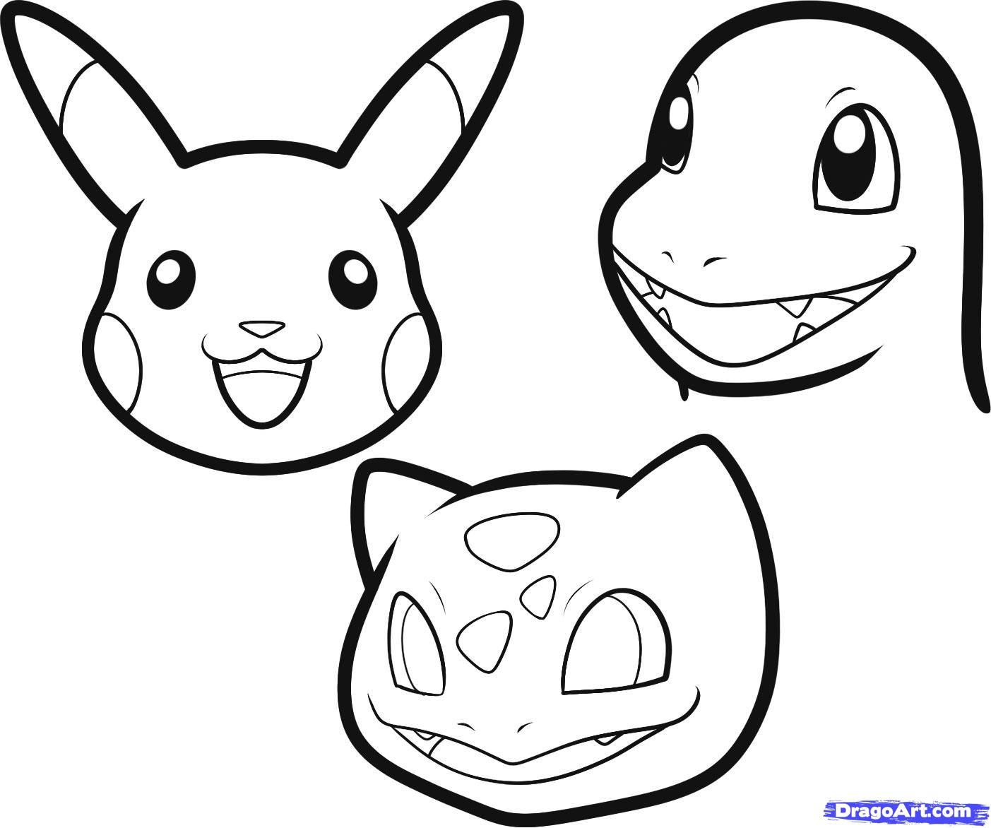 1403x1172 Easy To Draw Pokemon Characters Easy Pikachu Drawing How To Draw