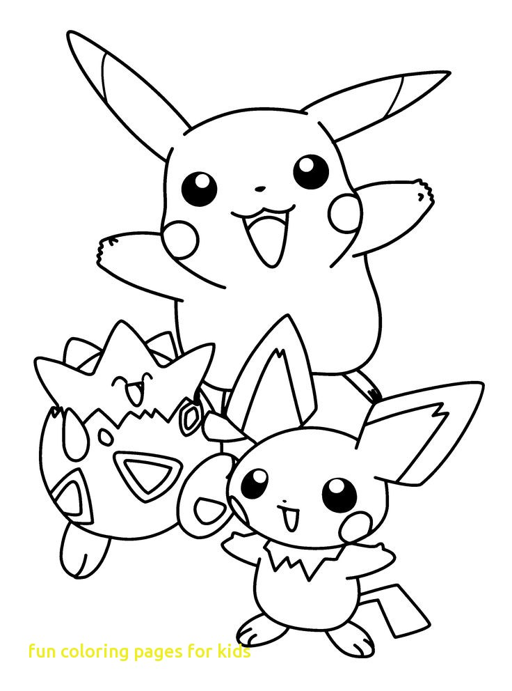 736x992 Fun Coloring Pages For Kids With Pokemon Pikachu And Friends