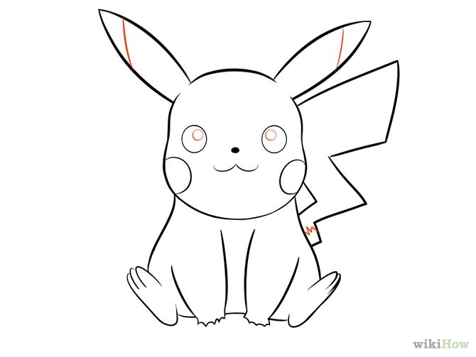 670x503 Pikachu With Hat Drawing Step By Step