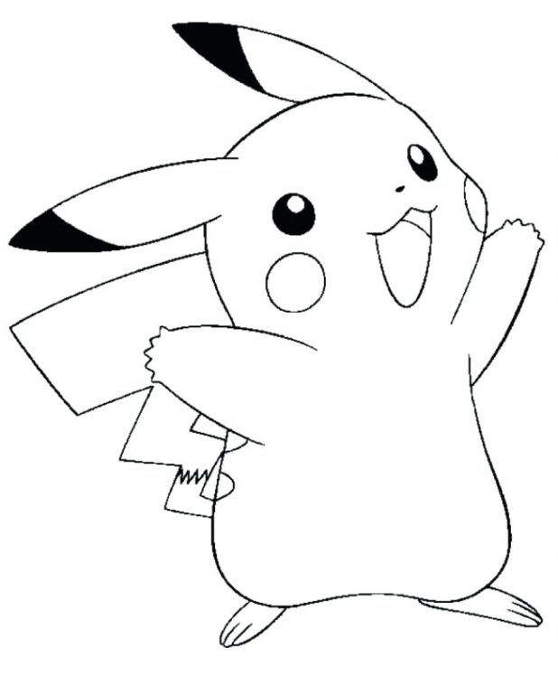 618x769 Coloring Pages Extraordinary Pokemon Coloring Pages Pikachu