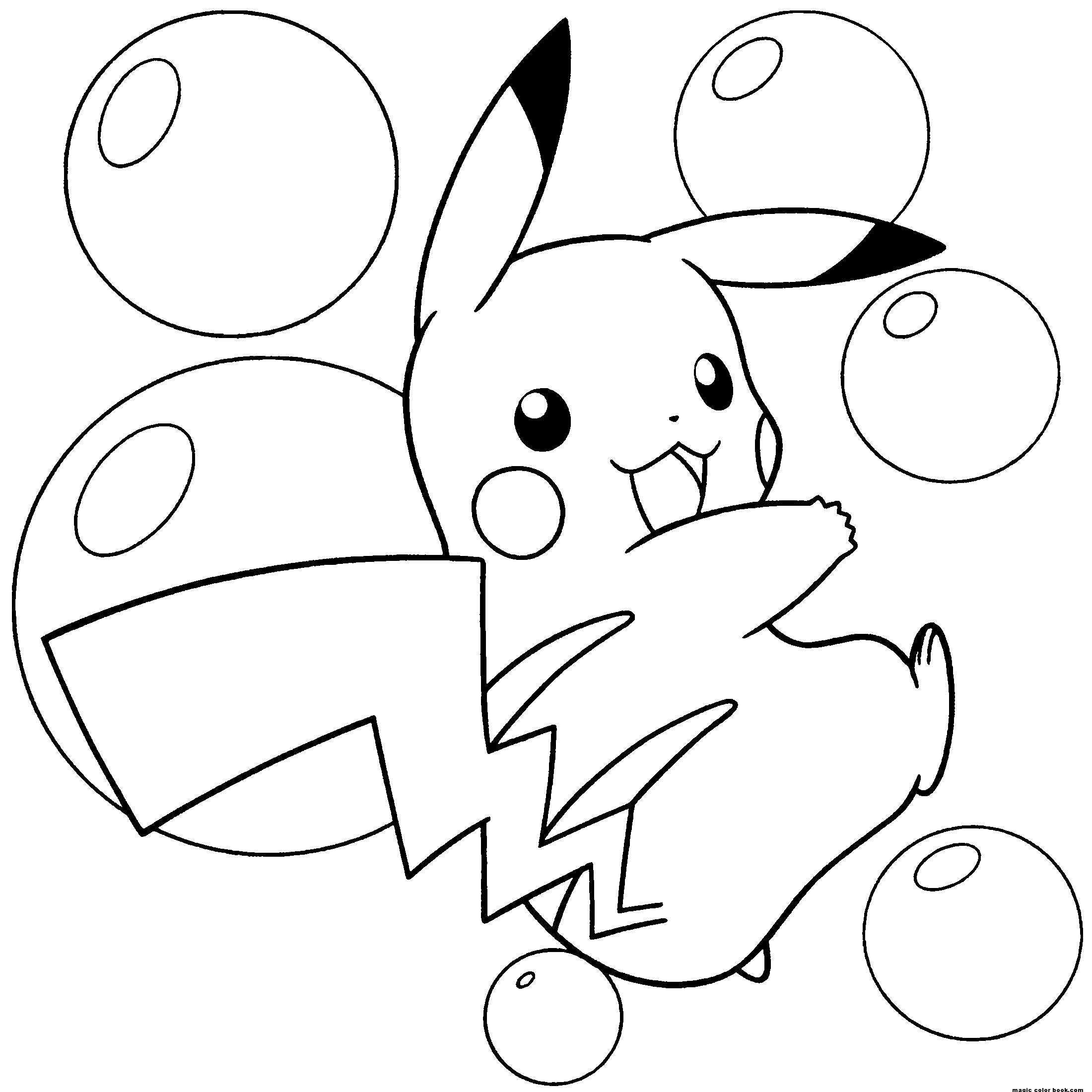 2200x2200 Coloring Pages Pikachu