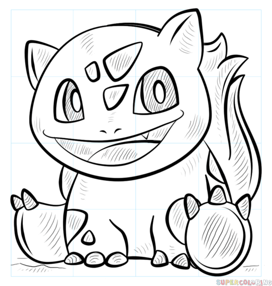 547x575 How To Draw Bulbasaur Pokemon Step By Step Drawing Tutorials