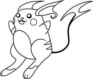 302x255 How To Draw Raichu