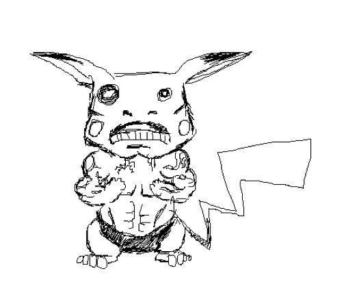503x415 Drawn Pikachu