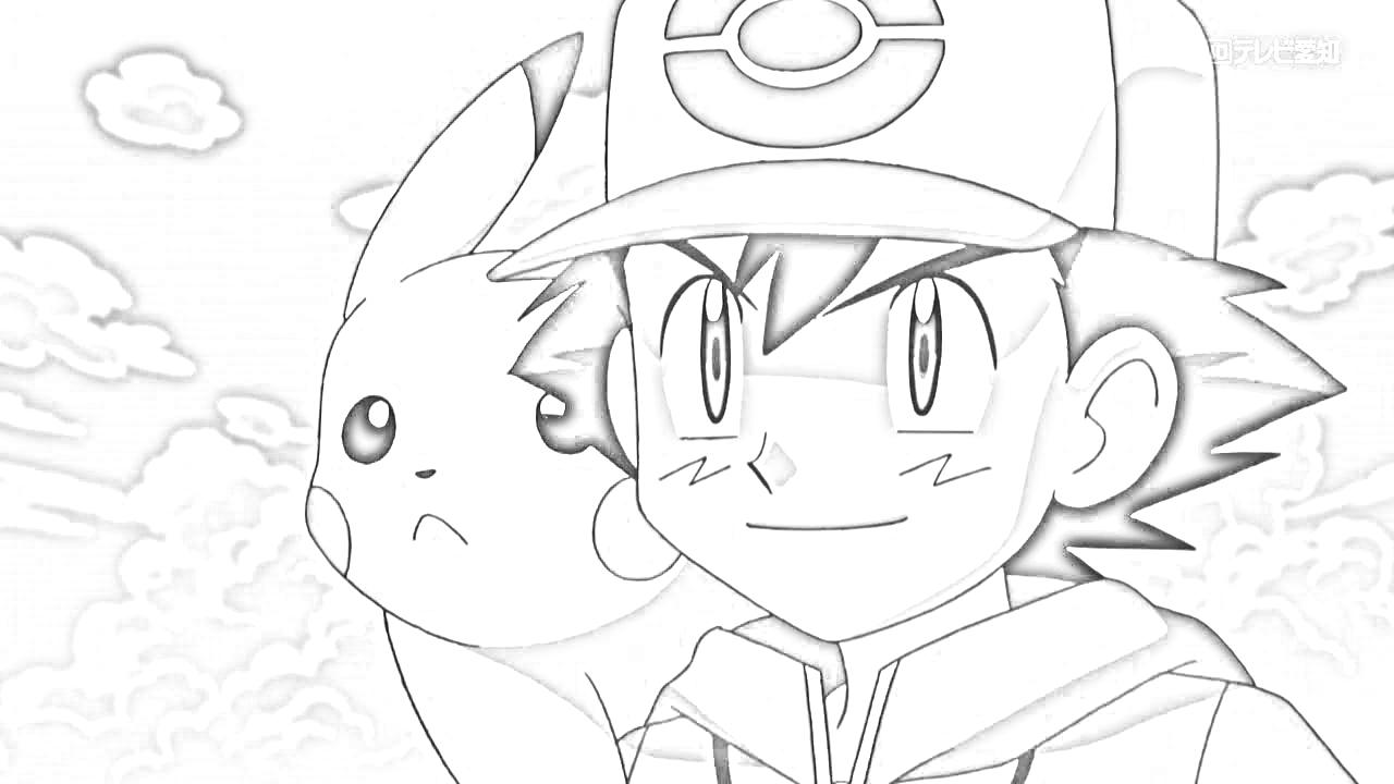 1280x720 Drawn Pikachu Ash Pikachu