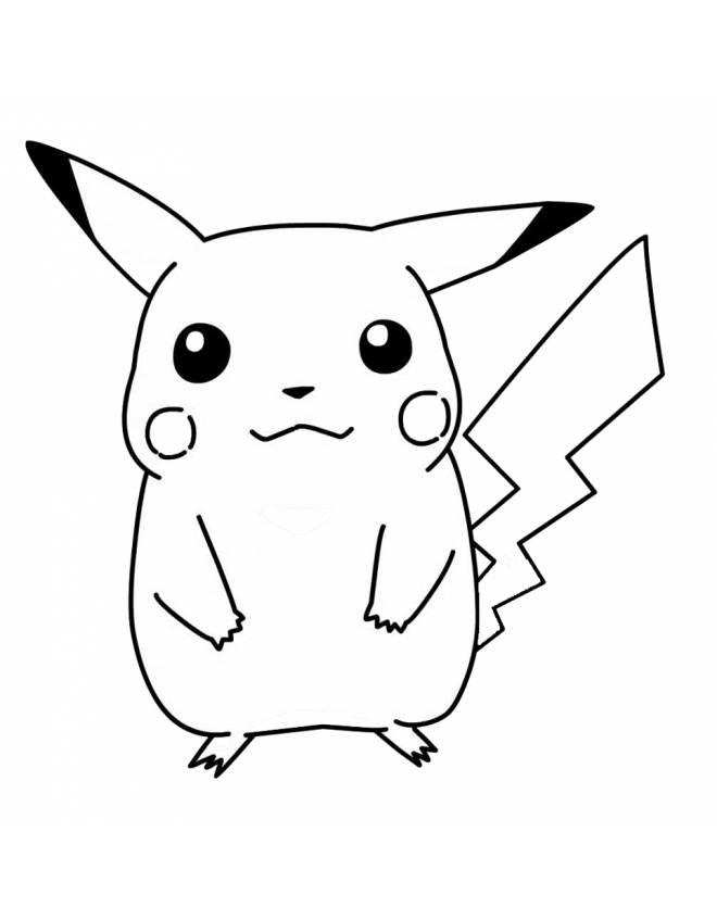 pikachu line drawing at getdrawings free
