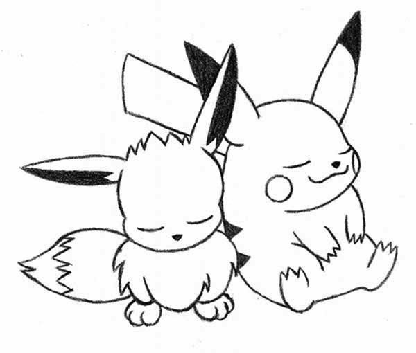 Pikachu Line Drawing at GetDrawings.com | Free for personal use ...