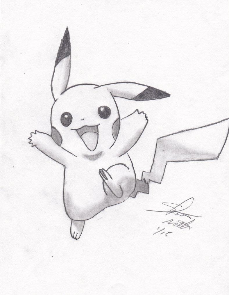 788x1014 Pikachu Pencil Sketch Finished By Shelandrystudio