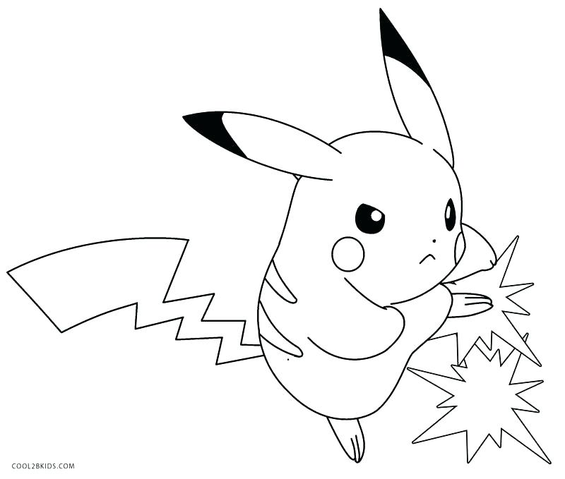 800x679 Pikachu Coloring Pages Coloring Pages Wearing Hat A Pikachu