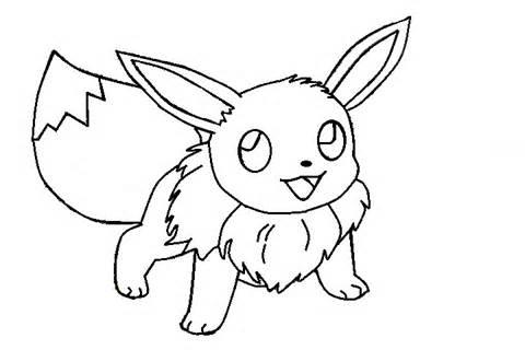 480x320 Coloring Pages Draw Easy Pokemon Eevee 3