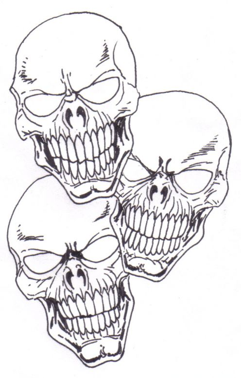 496x777 How To Draw A Skull Tattoo Skull Drawings, Drawings And Tattoo