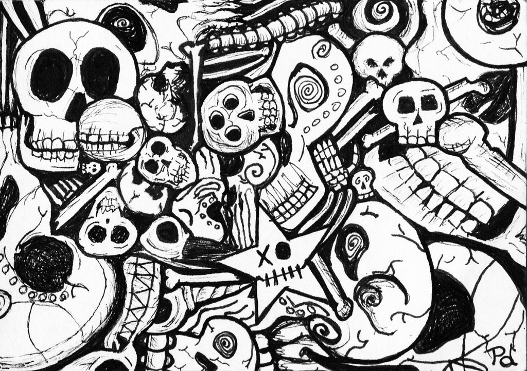 1024x722 Pile Of Bones (Collaboration With Dana Seims) By Bluefnord