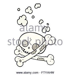300x320 Freehand Drawn Cartoon Pile Of Bones Stock Vector Art