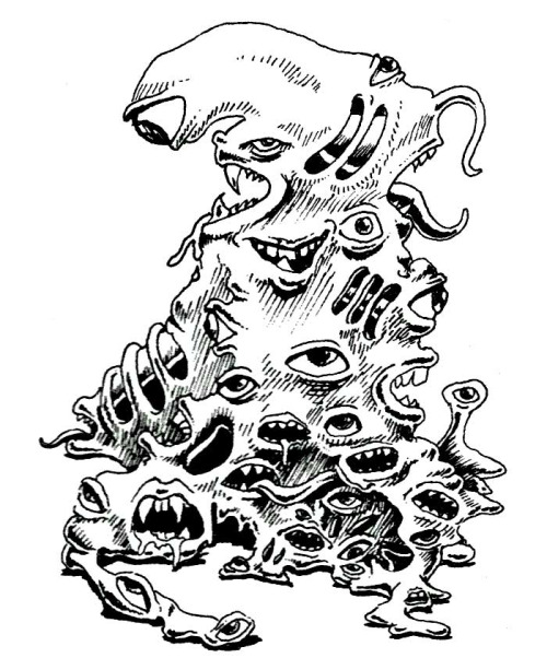 500x602 A Gibbering Mouther Is An Amoeba Like Pile Of Eyes And Mouths