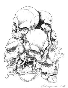 236x308 How To Draw A Skull Tattoo Skull Drawings, Drawings And Tattoo