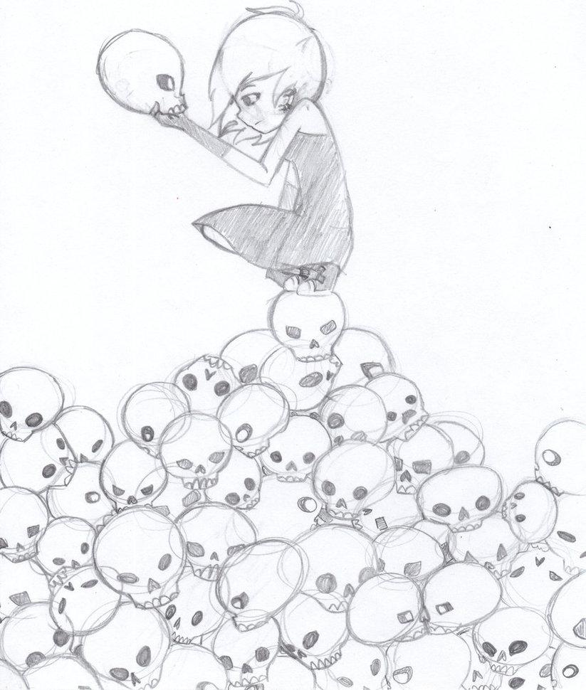 823x970 Mountain Of Skulls By Vivifox495