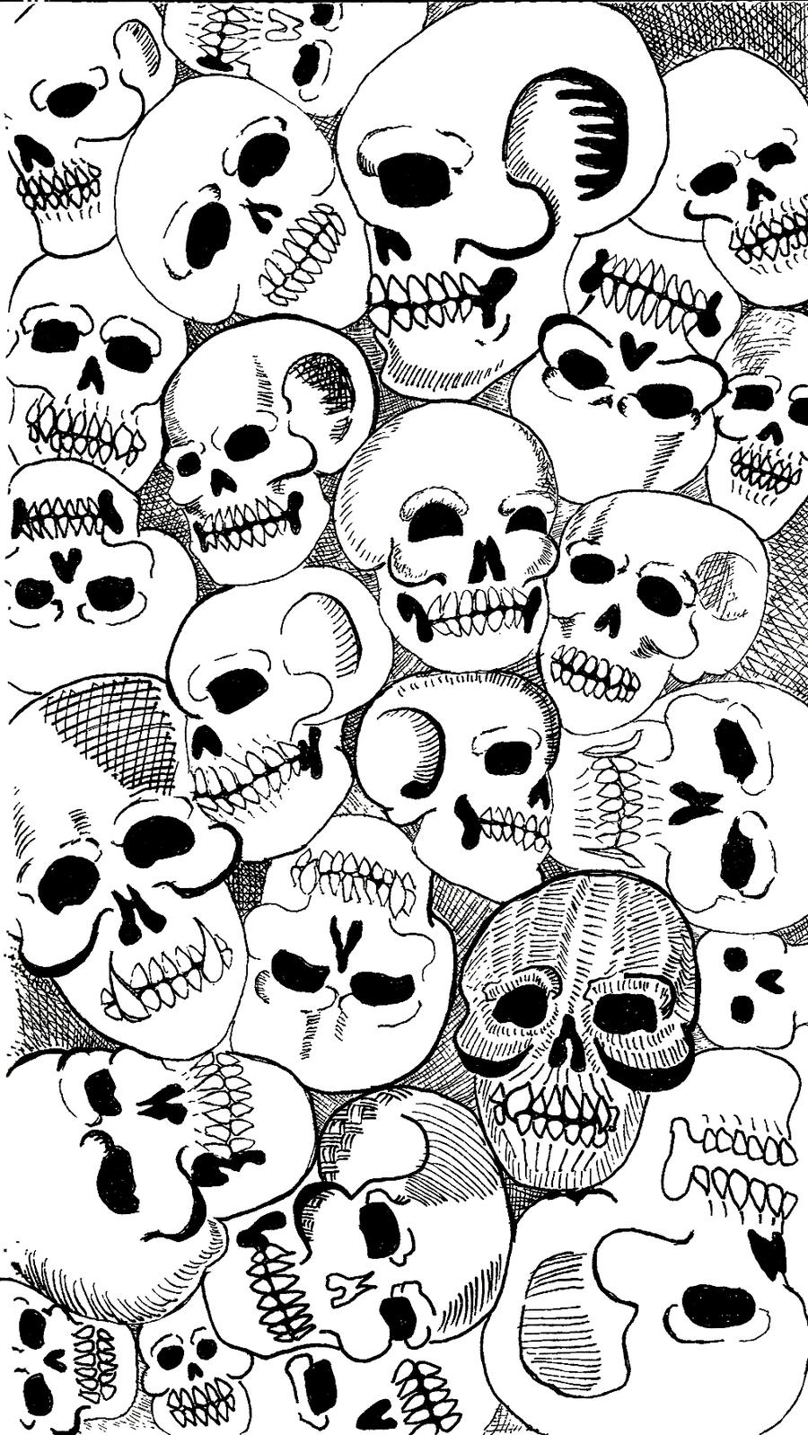 900x1598 Pile O' Skulls By Trombs