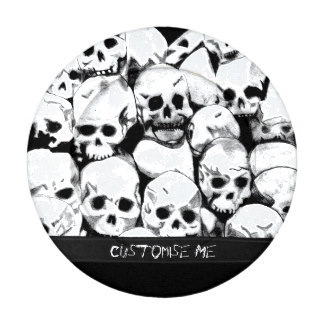 324x324 Skull Button Covers Zazzle