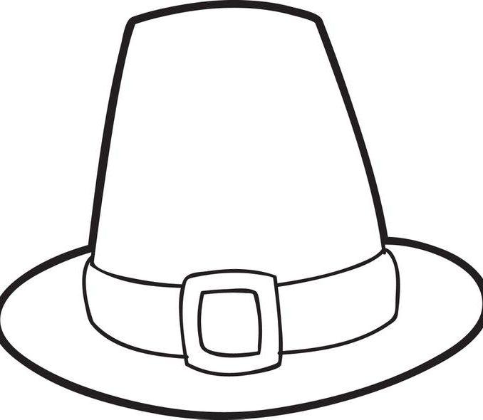 678x590 Hat Coloring Pages Printable Free Printable Pilgrim Hat Coloring