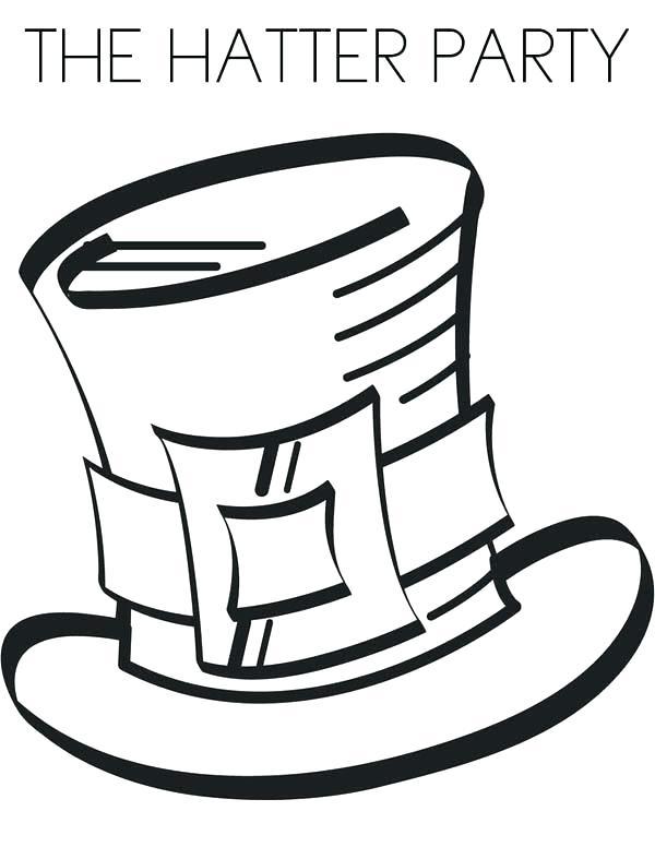 Pilgrim Hat Drawing
