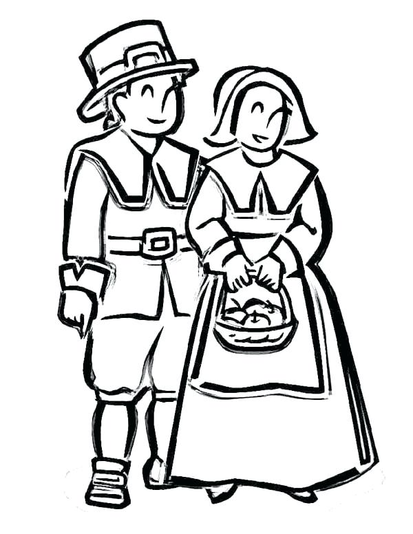 600x776 Pilgrim Coloring Page Hat Pages Thanksgiving Kids