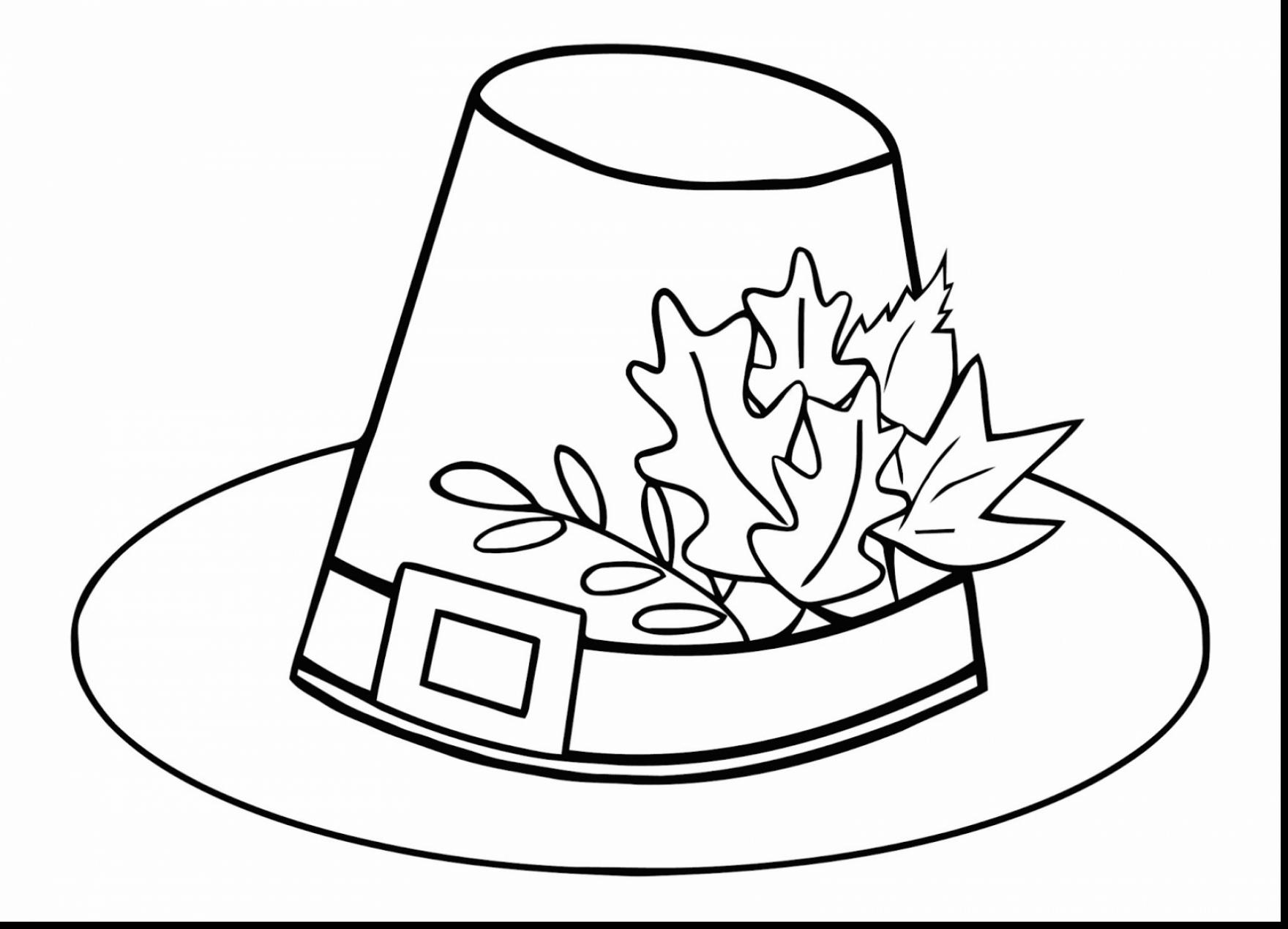 1760x1270 Beautiful Thanksgiving Pilgrim Hat Coloring Page With Thanksgiving