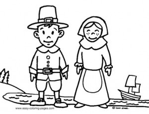 Pilgrims Drawing